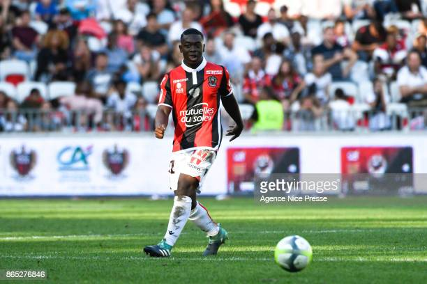Nampalys Mendy of Nice during the Ligue 1 match between OGC Nice and Strasbourg at Allianz Riviera on October 22 2017 in Nice