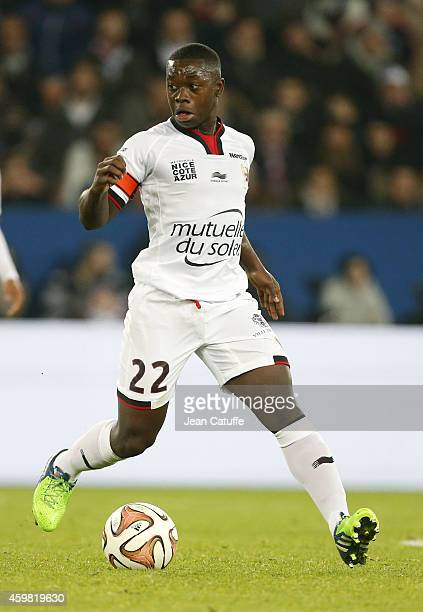 Nampalys Mendy of OGC Nice in action during the French Ligue 1 match between Paris SaintGermain FC and OGC Nice at Parc des Princes stadium on...