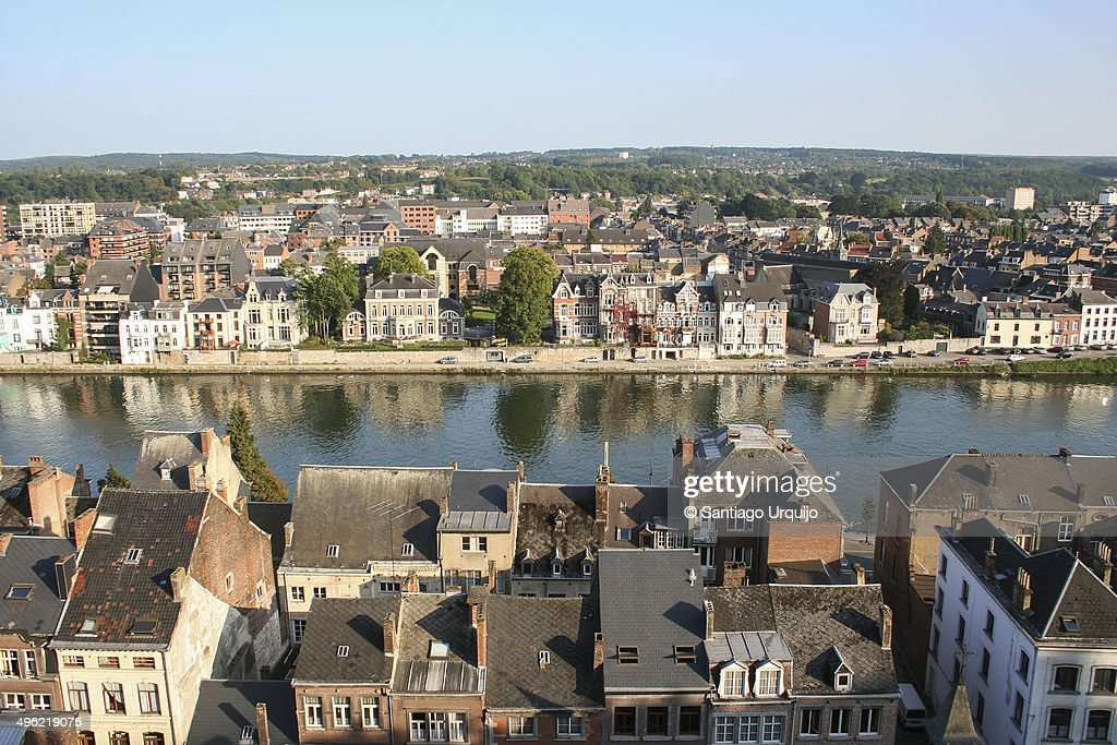 Namur alongside the Meuse River from the Citadel