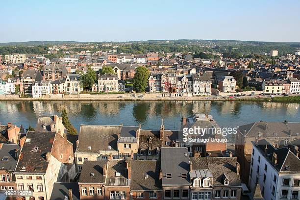 Namur alongside the Meuse River from the Citadel