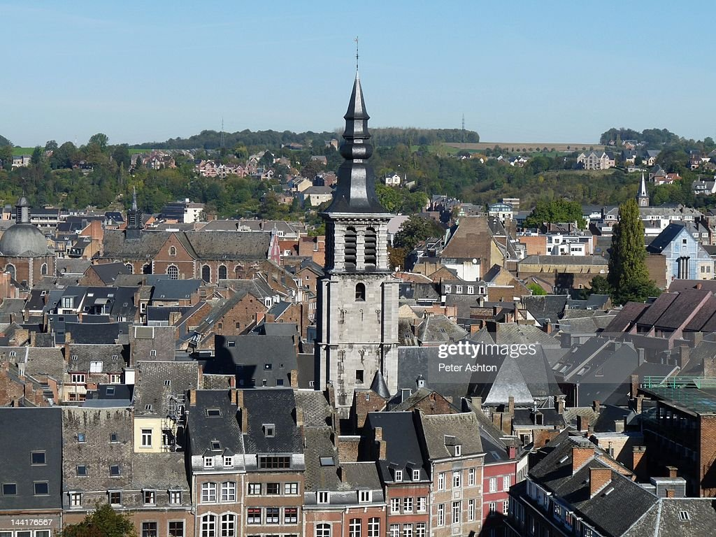 Namur roofs and Eglise St. Jean-Baptiste