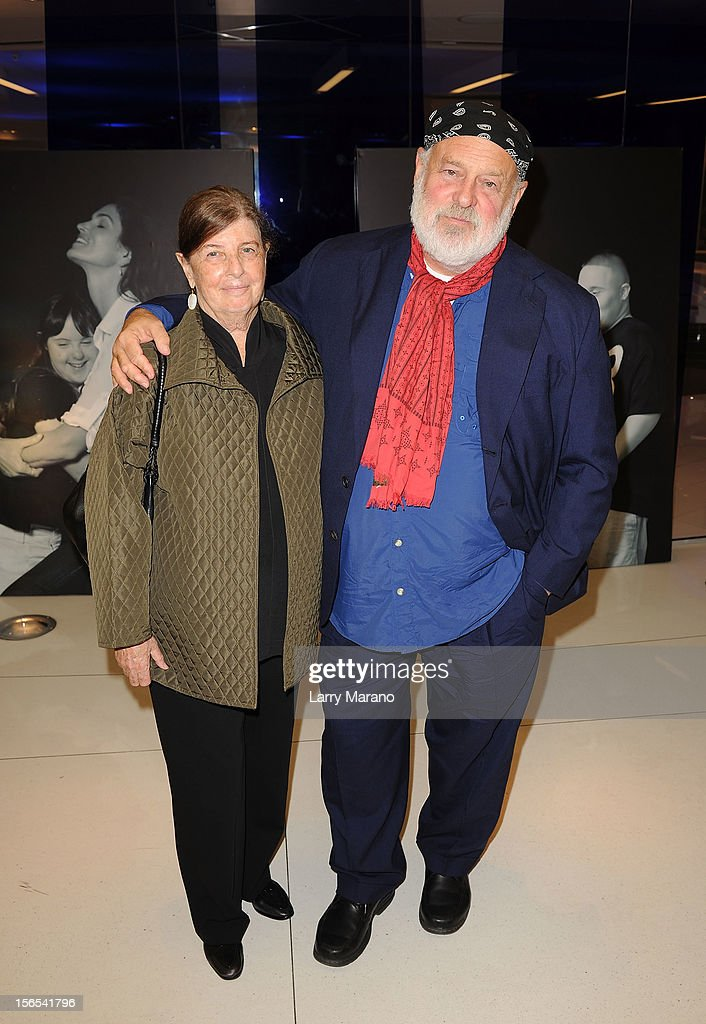 Nan Bush and <a gi-track='captionPersonalityLinkClicked' href=/galleries/search?phrase=Bruce+Weber+-+Photographer&family=editorial&specificpeople=206240 ng-click='$event.stopPropagation()'>Bruce Weber</a> attend the Zenith Watches Best Buddies Miami Gala at Marlins Park on November 16, 2012 in Miami, Florida.