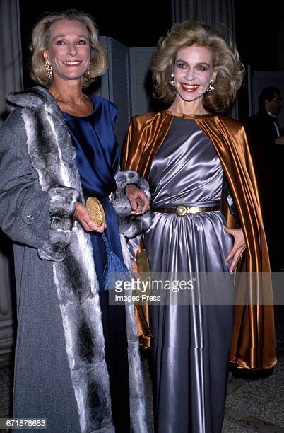 Nan Kemper and Lynn Wyatt attend the Annual Costume Institute Exhibition Gala 'From Queen to Empress Victorian Dress 18371888' at the Metropolitan...