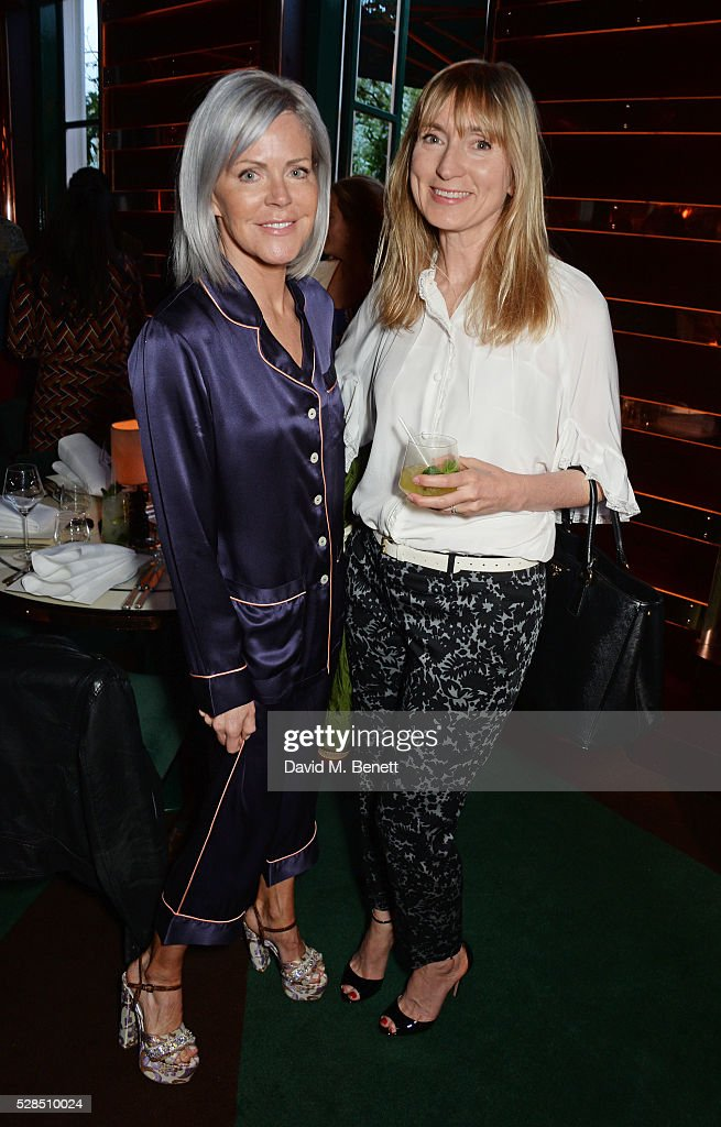Nan Richards (L) and Jackie Annesley attend a private dinner hosted by Rodial founder Maria Hatzistefanis & Bay Garnett at Casa Cruz on May 5, 2016 in London, England.