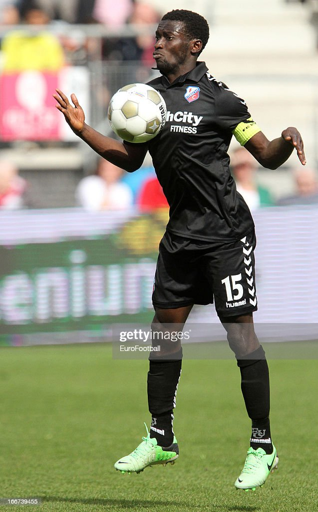 Nana Asare of FC Utrecht in action during the Dutch Eredivisie match between AZ Alkmaar and FC Utrecht held on April 14, 2013 at the AFAS Stadion in Alkmaar, Netherlands. AZ Alkmaar won the match with 6-0.
