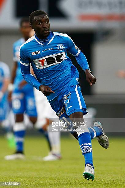 Nana Asare of Gent during the Jupiler League match between KAA Gent and KRC Genk held at the Ghelamco Arena on July 31 2015 in Gent Belgium