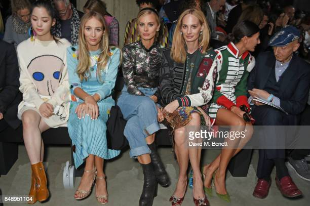 Nana Harley Viera Newton Laura Bailey Lauren Santo Domingo Giovanna Battaglia Engelbert and Stephen Jones attend the Christopher Kane SS18 catwalk...