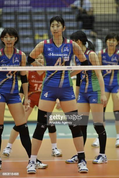 Nana Iwasaka of Hisamitsu Spring is seen during the pool match of the FIVB Womens Club World Championship Day 1 between Hisamitsu Spring and...
