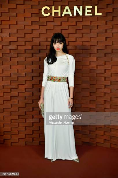 Nana Komatsu arrives for the Chanel Collection Metiers d'Art Paris Hamburg 2017/18 at The Elbphilharmonie on December 6 2017 in Hamburg Germany