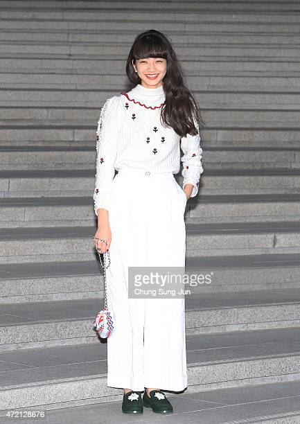 Nana Komatsu arrives the Chanel 2015/16 Cruise Collection show on May 4 2015 in Seoul South Korea