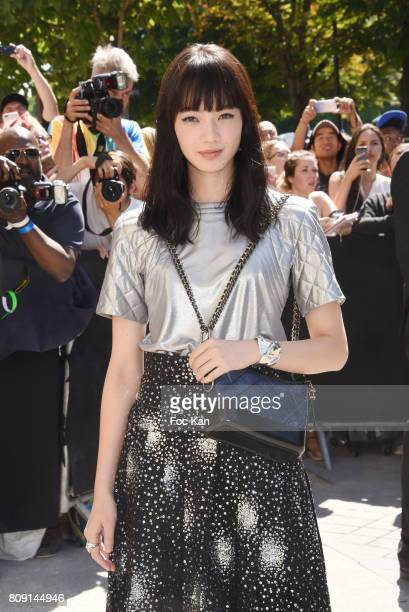 Nana Komatsu attends the Chanel Haute Couture Fall/Winter 20172018 show as part of Paris Fashion Week on July 4 2017 in Paris France