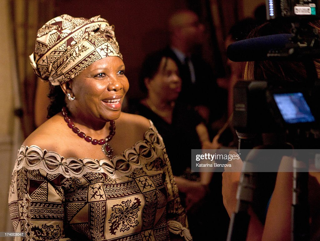 Nana Magomola speaks during The Nelson Mandela Legacy Of Hope Foundation Event at Gotham Hall on July 18, 2013 in New York City.