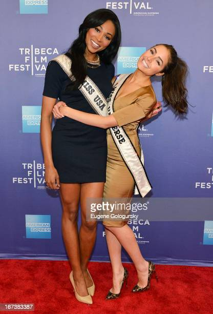 Nana Meriwether and Olivia Culpo attend Tribeca Talks After the Movie 'Battle of amFAR' during the 2013 Tribeca Film Festival at SVA Theater on April...