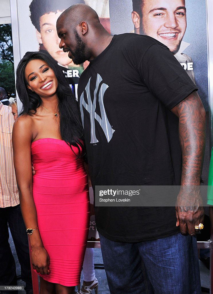 Nana Meriwether (L) and Shaquille O'Neal attend the 'Grown Ups 2' New York Premiere at AMC Lincoln Square Theater on July 10, 2013 in New York City.