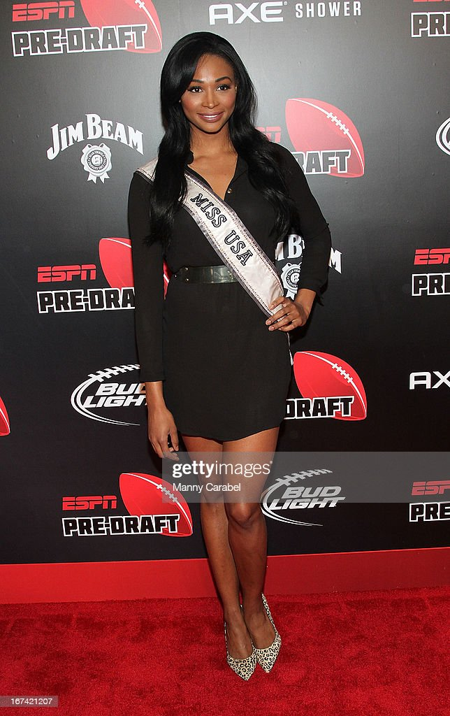 Nana Meriwether attends the ESPN The Magazine 10th annual Pre-Draft Party at The IAC Building on April 24, 2013 in New York City.