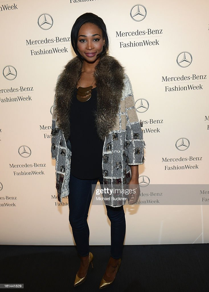 Nana Meriwether attends the Mercedes-Benz Start Lounge at Lincoln Center on February 10, 2013 in New York City.