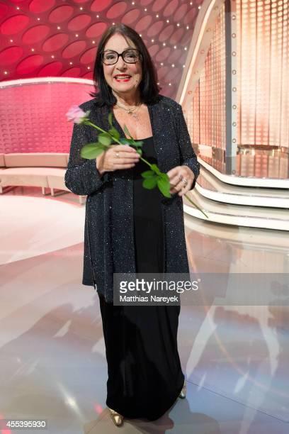 Nana Mouskouri attends the 'Willkommen bei Carmen Nebel' show at Velodrom on September 13 2014 in Berlin Germany