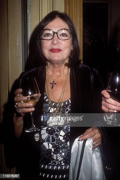 Nana Mouskouri during Chateau Les Grand Chenes 18th Century Diner Hosted by Bernard Magrez at Pavillon Le Doyen in Paris France