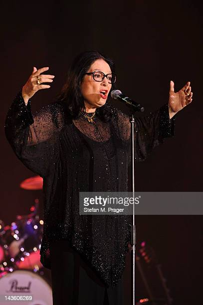 Nana Mouskouri performs on stage at Kleine Olympiahalle on April 30 2012 in Munich Germany