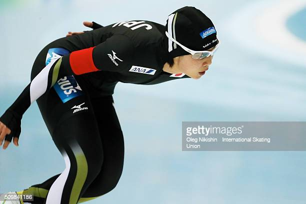 Nana Takagi of Japan compete in the Ladies 5000 meters race during day 2 of the ISU World Single Distances Speed Skating Championships held at Speed...