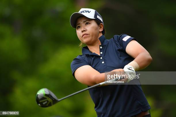 Nana Yamashiro of Japan looks on during the final round of the Suntory Ladies Open at the Rokko Kokusai Golf Club on June 11 2017 in Kobe Japan