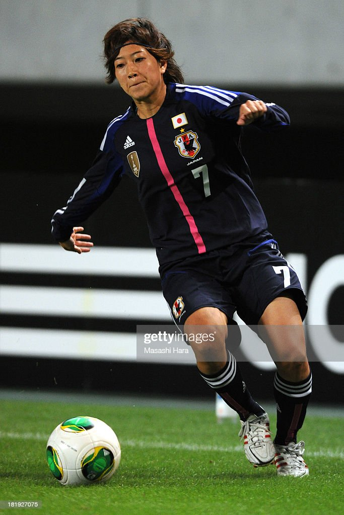 Nanase Kiryu #7 of Japan in action during the Women's international friendly match between Japan and Nigeria at Fukuda Denshi Arena on September 26, 2013 in Chiba, Japan.