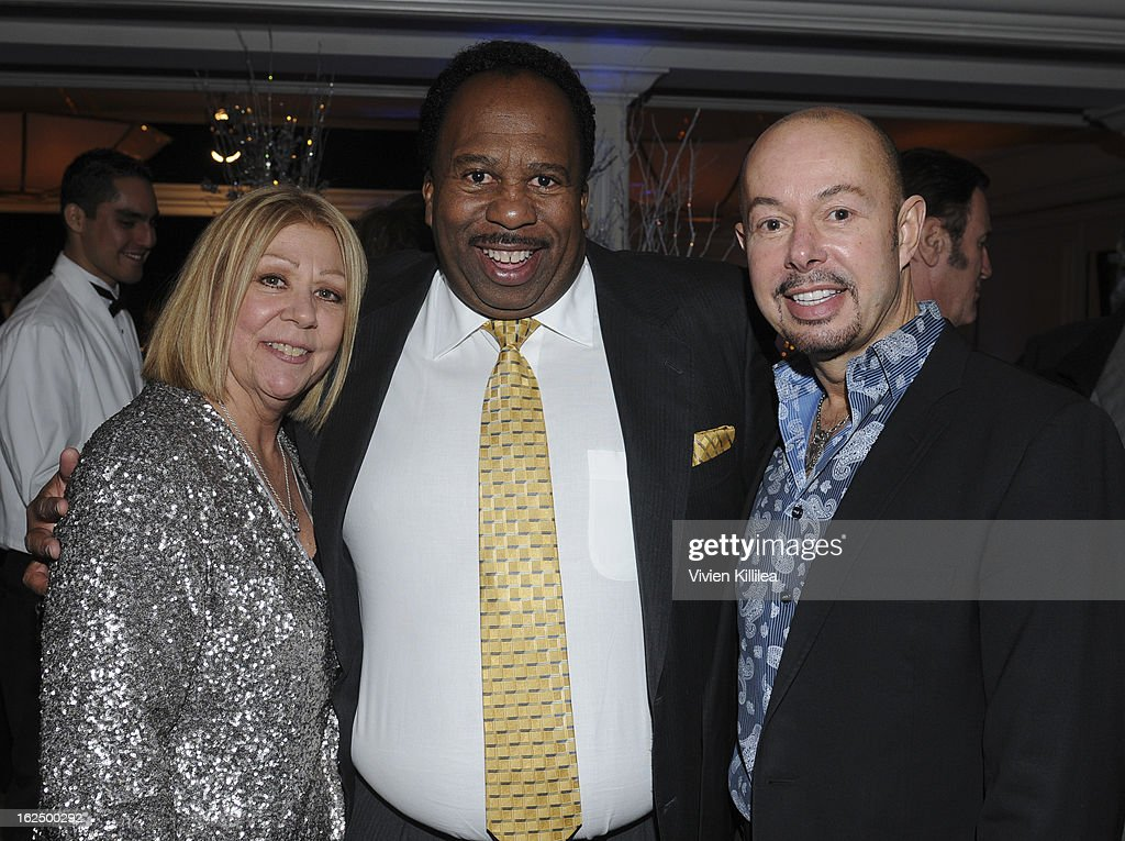 Nancee Borgnine, Leslie David Baker and a guest attend The Borgnine Movie Star Gala at Sportsmen's Lodge Event Center on February 23, 2013 in Studio City, California.
