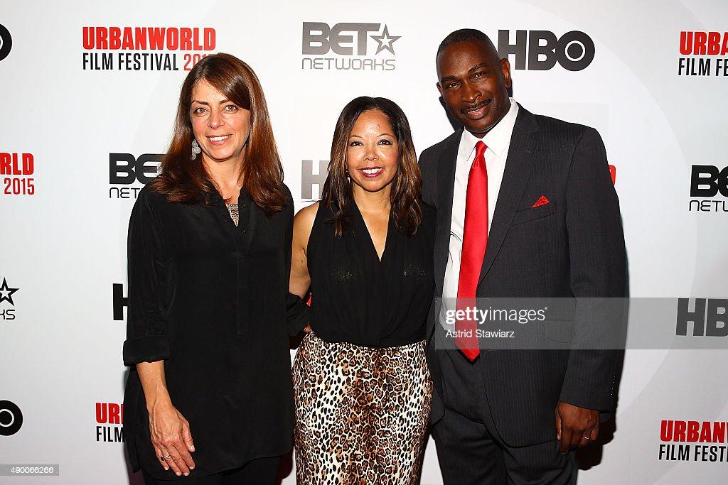 Nancy Abraham, Lucia McBath and Ron Davis attend the 2015 Urbanworld Film Festival at AMC Empire 25 theater on September 25, 2015 in New York City.