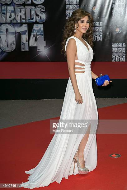 Nancy Ajram arrives to attend the 'World Music Awards 2014' ceremony at Sporting MonteCarlo on May 27 2014 in MonteCarlo Monaco