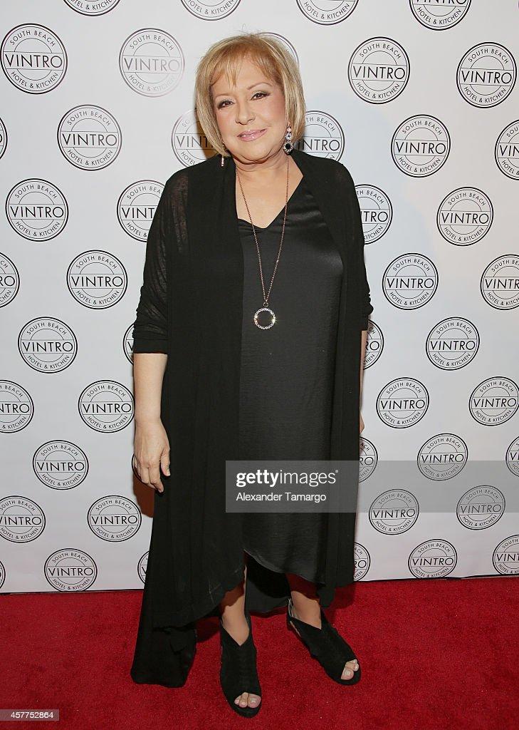 Nancy Alvarez attends Cristina Saralegui's Book Launch at Vintro Hotel on October 23, 2014 in Miami, Florida.