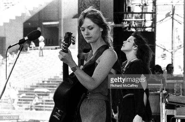 Nancy and Ann Wilson of Heart perform live at The Oakland Coliseum in 1977 in Oakland California