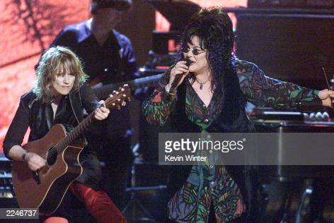 Nancy and Ann Wilson of Heart perform live at 'Women Rock Girls Guitars' at the Wiltern Theater Los Angeles Ca 10/12/00 The concert was held to raise...