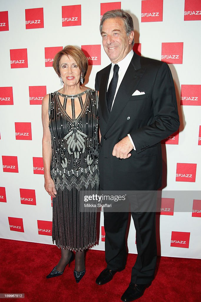 Nancy and <a gi-track='captionPersonalityLinkClicked' href=/galleries/search?phrase=Paul+Pelosi&family=editorial&specificpeople=2863630 ng-click='$event.stopPropagation()'>Paul Pelosi</a> at SFJAZZ Center on January 23, 2013 in San Francisco, California.