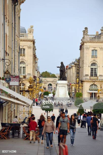 atmosphere in a street near the square 'place Stanislas' in the historic centre