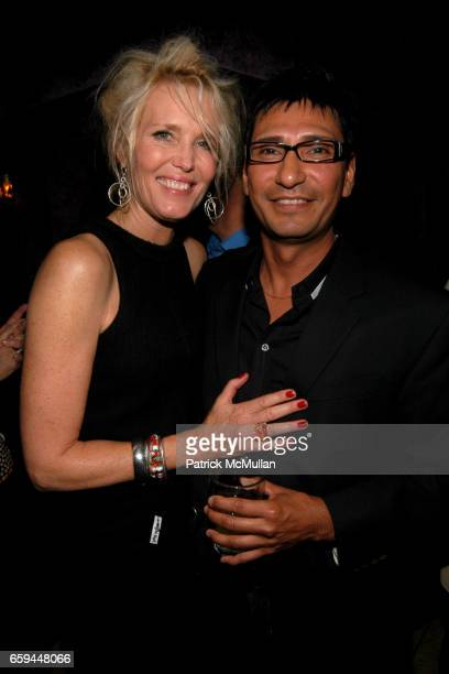 Nancy C Donohue and Fernando Blanco attend NANCY C DONAHUE and HARRY KING Host 70s and 80s Fashion Reunion Party at The Gates on September 22 2009 in...
