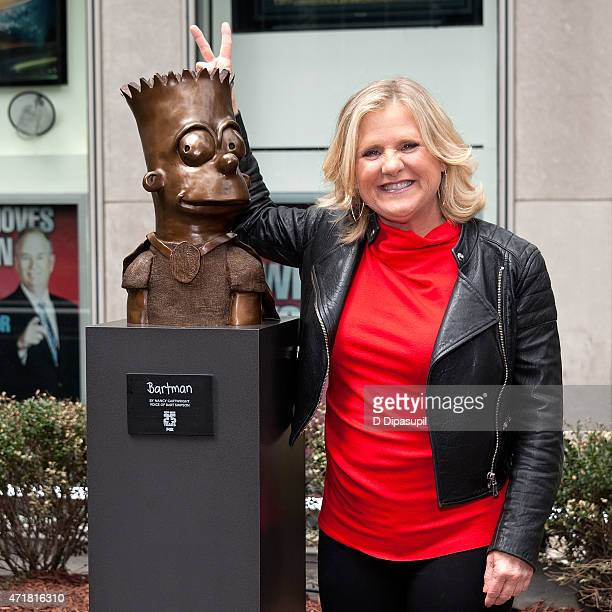 Nancy Cartwright attends the Bart Simpson Bartman Sculpture Unveiling at News Corp Building Plaza on May 1 2015 in New York City