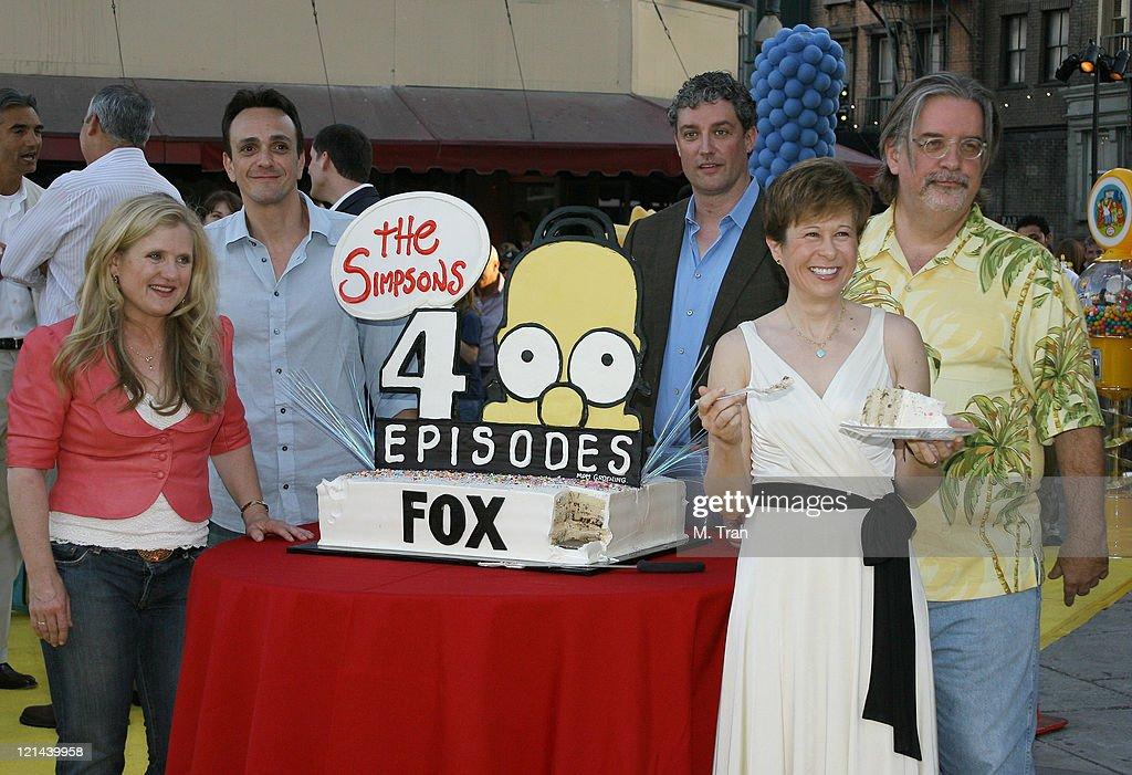 Nancy Cartwright Hank Azaria Al Jean Matt Groening and Yeardley Smith