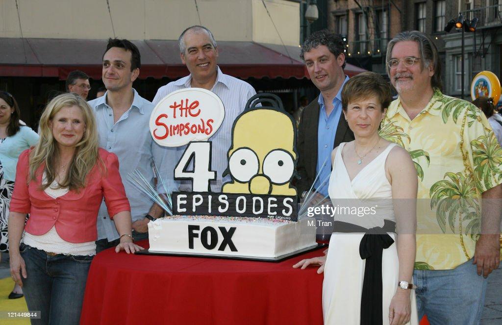 Nancy Cartwright Hank Azaria Matt Groening creator Al Jean and Yeardley Smith