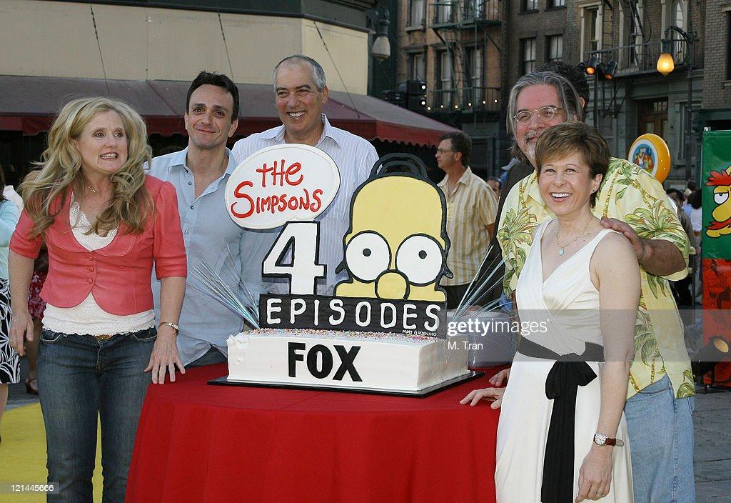 Nancy Cartwright Hank Azaria Matt Groening creator and Yeardley Smith
