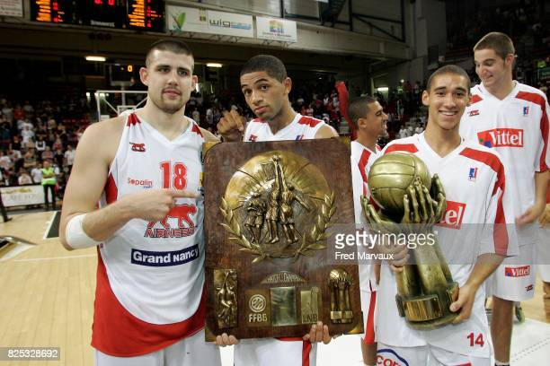 Nancy champions des champions Adrien MOERMAN / Nicolas BATUM / Kinsley PINDA Nancy / Chalon sur Saone Match des champions