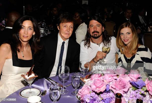 Nancy Chevelle Paul McCartney Dave Grohl and Jordyn Blum attend the 2009 GRAMMY Salute To Industry Icons honoring Clive Davis at the Beverly Hilton...