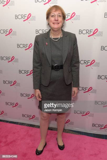 Nancy D Davidson MD arrives at the Breast Cancer Research Foundation New York Symposium and Awards Luncheon at New York Hilton on October 19 2017 in...