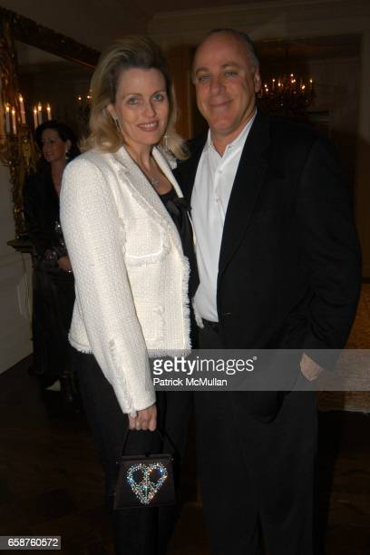 Nancy Davis and Ken Rickel attend Kathy and Rick Hilton's party for Donald Trump and 'The Apprentice' at the Hiltons' Home on February 28 2004 in...