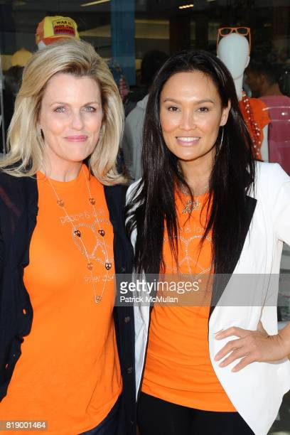 Nancy Davis and Tia Carrere attend Race To Erase MS Kicks Off May As Multiple Sclerosis Awareness Month With A Fundraiser At Kitson Boutique at...