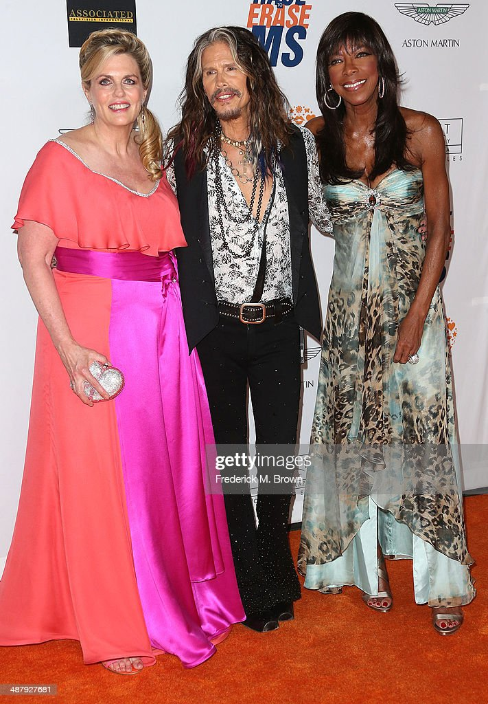 Nancy Davis, Steven Tyler, and Natalie Cole attend the 21st Annual Race to Erase MS at the Hyatt Regency Century Plaza Hotel on May 2, 2014 in Century City, California.