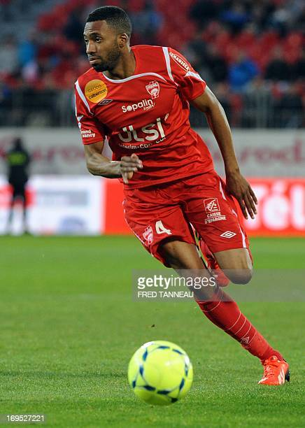 Nancy defender Jordan Loties plays on May 26 2013 during a French L1 match against Brest at the Francis Le Ble stadium in the weatern French city of...
