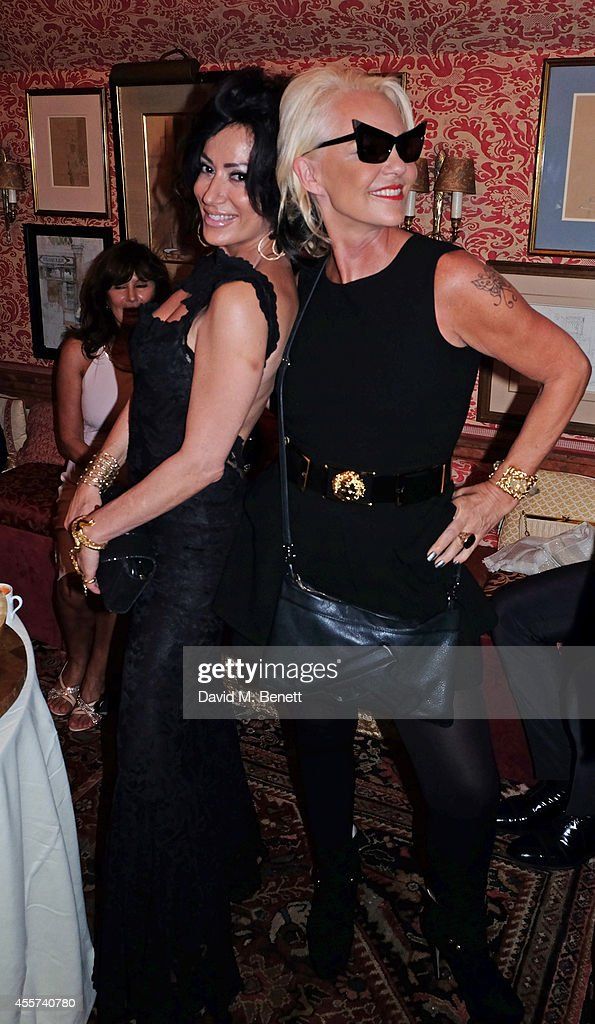 Nancy Dell'Olio and Amanda Eliasch attend the 35th Birthday of Harry's Bar on September 19 2014 in London England