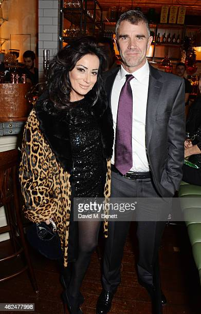 Nancy Dell'Olio and Ivan Massow attend the launch of new restaurant West Thirty Six on January 29 2015 in London England