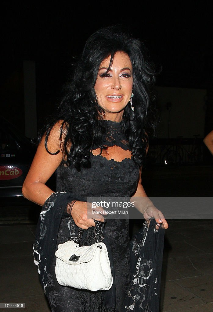 Nancy Dell'Olio arriving at Lou Lou's club on July 25, 2013 in London, England.