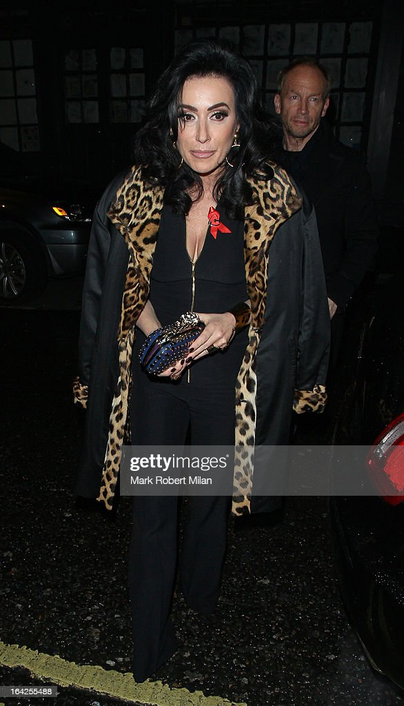 Nancy Dell'Olio at the Groucho club on March 21, 2013 in London, England.